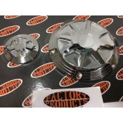 CNC DEEP CUT DERBY AND CAM COVER, CHROME PLATED