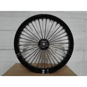 Factory Products, Black Single Disc 16 x 3.5 Fat Spoke