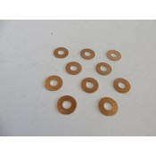Factory Products, Copper Rocker Cover Washers, Ten Pack