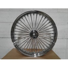 Factory Products, Chrome Dual Disc Front 21 x 3.5 Fat 40 Spoke.