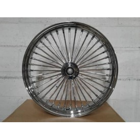 Factory Products, Chrome Single Disc Front 16 x 3.5 Fat Spoke.