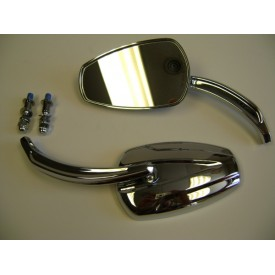 Factory Products, Chrome Slipstream Mirror Set.