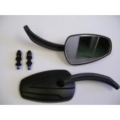 Factory Products, MAT Black Slipstream Mirror, Set.