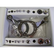 Factors Products, Chrome Carburetor Support Bracket.