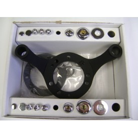 Factors Products, Black Carburetor Support Bracket.