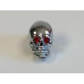 Chrome Dye Skull Ruby Eyed Krommets 5/8