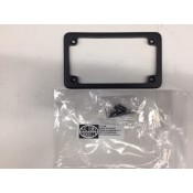 "ALUMINUM LICENSE PLATE COVER, 4"" X 7"",  BLACK"