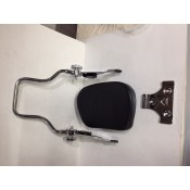 CHROME DETACHABLE PASSENGER BACKREST ASSY  WITH PAD