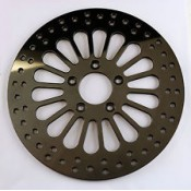 "Factory Products, 11.5"" Rear Black King Spoke Brake Rotor."