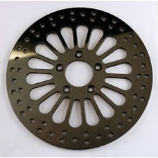 "Factory Products, 11.8"" Rear Black Spoke Brake Rotor."