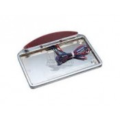 FACTORY PRODUCTS C/P LICENSE PLATE FRAME WITH HALF MOON LED LIGHT