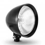 "Factory Products, 5 3/4"" Black Chopper Headlight"