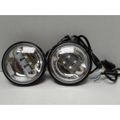 4.5 Inch chrome LED Spot Lights, Sold as a Pair fits Harley Davidson or Indian