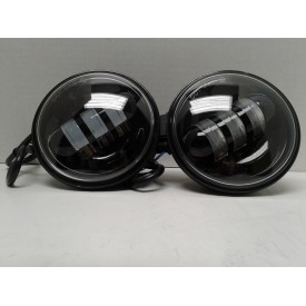 4.5 Inch Black LED Spot Lights. Sold as a Pair