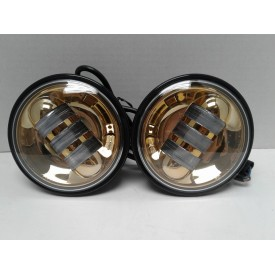4.5 Inch Gold LED Spot Lights. Sold as a Pair