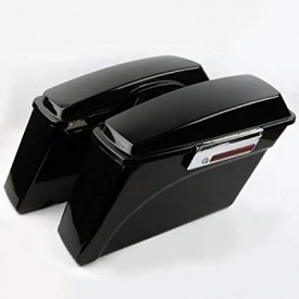 OEM STYLE STOCK REPLACEMENT SADDLEBAGS,  ABS,  BLACK,
