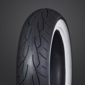 Vee Rubber VRM-302 TL Twin Rear White Wall Tire, 150/60 B18. 67H
